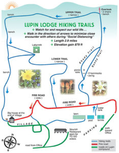 Lupin Lodge Nude Hiking Trails Map