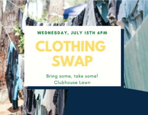 Clothing Swap @ Clubhouse Lawn