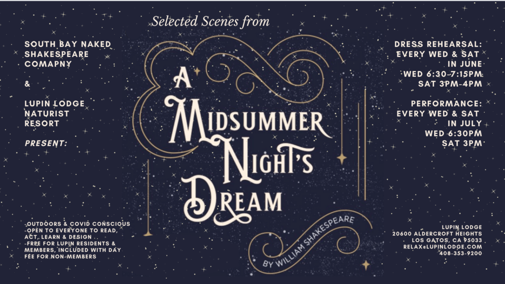 A Midsummer Night's Dream @ Lupin Lodge