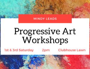 Progressive Art Workshops @ Clubhouse Lawn