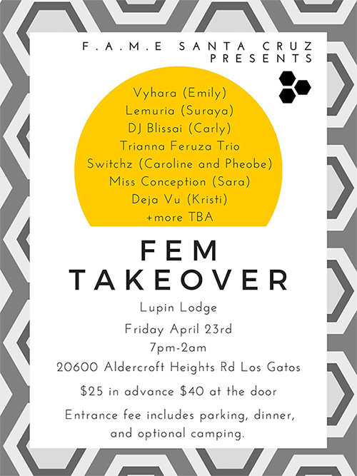 FEM TAKEOVER @ Lupin Lodge